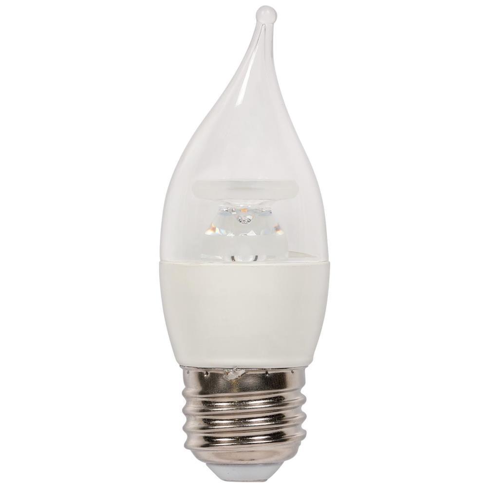 40W Equivalent Soft White C11 LED Light Bulb (2-Pack)