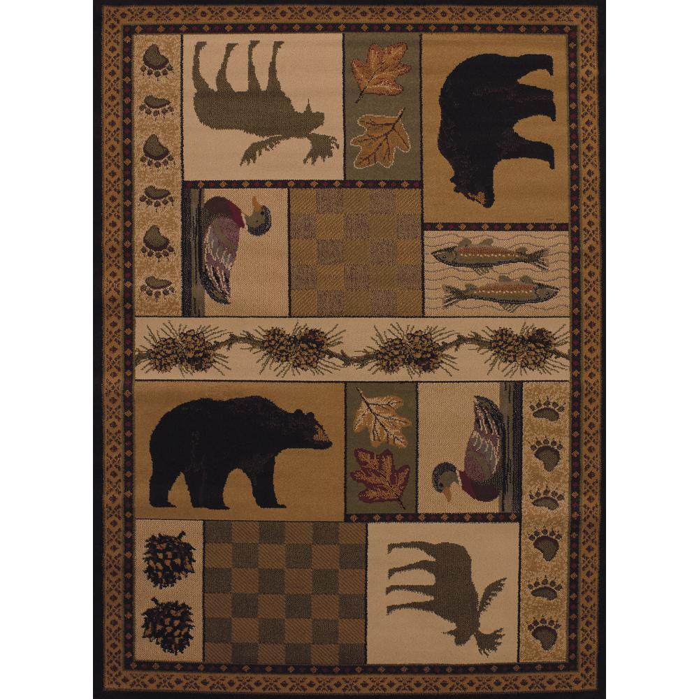 United Weavers Affinity Pine Montage Lodge 5 Ft 3 In X 7