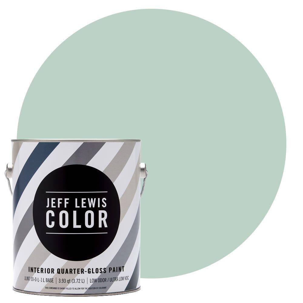Jeff Lewis Color 1-gal. #JLC513 Aloe Quarter-Gloss Ultra-Low VOC Interior Paint
