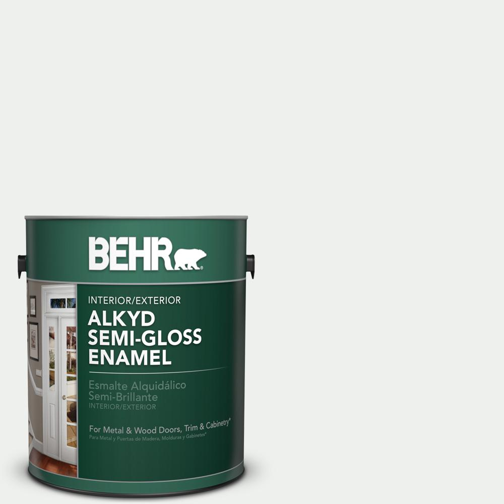1 gal. #57 Frost Semi-Gloss Enamel Alkyd Interior/Exterior Paint
