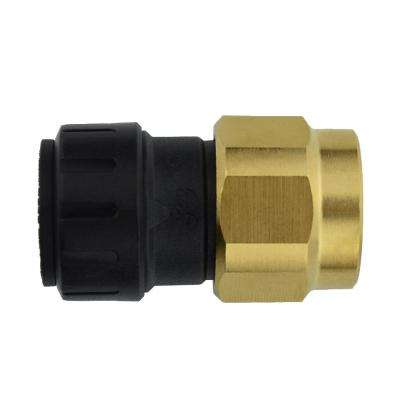 3/8 in. CTS x 1/2 in. NPS Brass ProLock Push-to-Connect Female Connector (10-Pack)