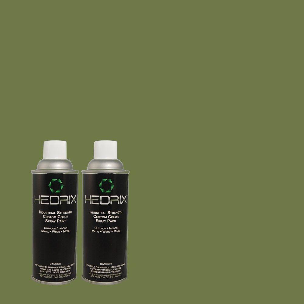 Hedrix 11 oz. Match of MQ6-48 Hummingbird Green Gloss Custom Spray Paint (8-Pack)