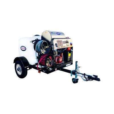 4000 PSI at 4.0 GPM Hot Water Mobile Washing System Powered by HONDA Gas Mobile Washing Trailer