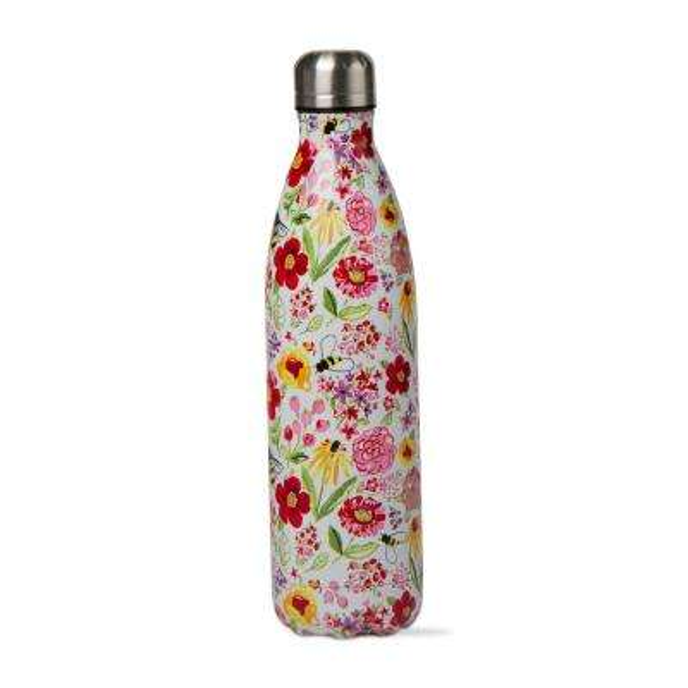 Fresh Flowers 16 oz. Multicolor Stainless Steel Bottle