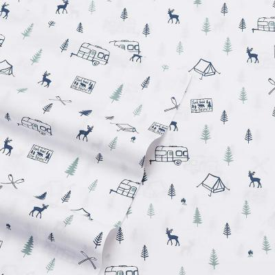 Printed 200-Thread Count Cotton Percale Sheet Set