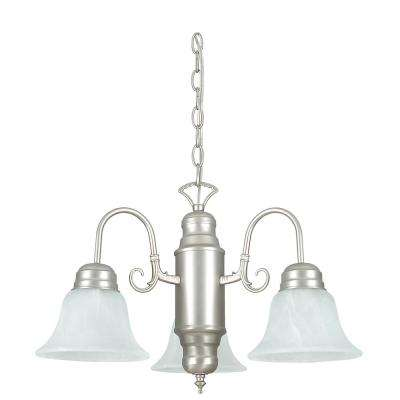Grayson 23 in. 3-Light Satin Nickel Chandelier