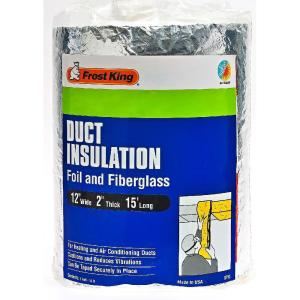 E O 12 In X 15 Ft Foil And Fiberglass Duct Insulation