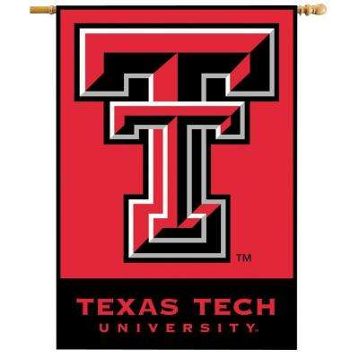 NCAA 28 in. x 40 in. Texas Tech 2-Sided Banner with Pole Sleeve