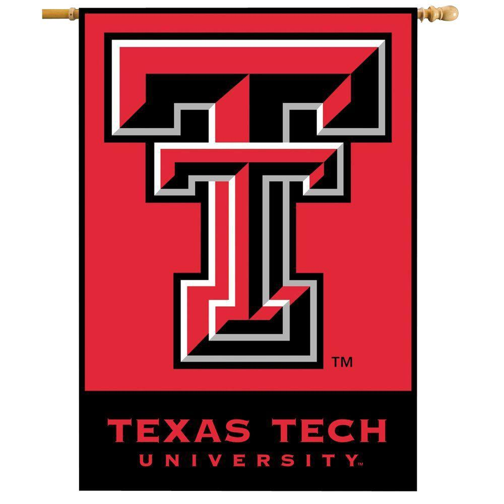 BSI Products NCAA 28 in. x 40 in. Texas Tech 2-Sided Banner with Pole Sleeve