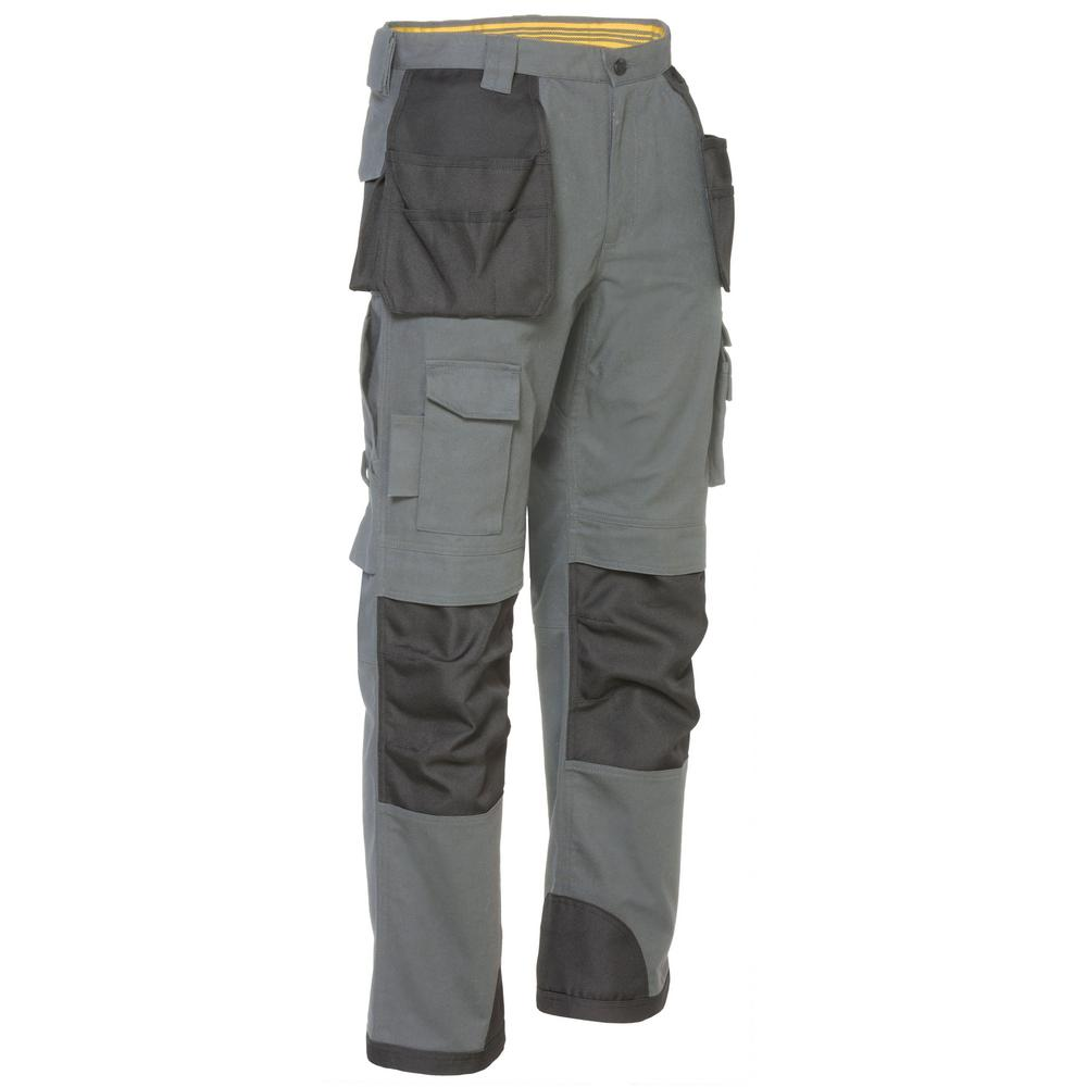 Men Work Cargo Trouser Khaki /& Black Pro Heavy Duty Multi /& Knee Pad Pockets LOT