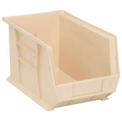 Ultra Series Stack and Hang 7.2 Gal. Storage Bin in Ivory (12-Pack)