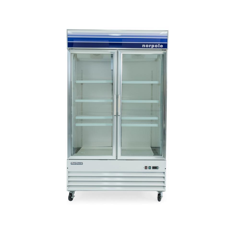 49 in. W 29 cu. ft. Glass Door Commercial Reach-In Freezer in White
