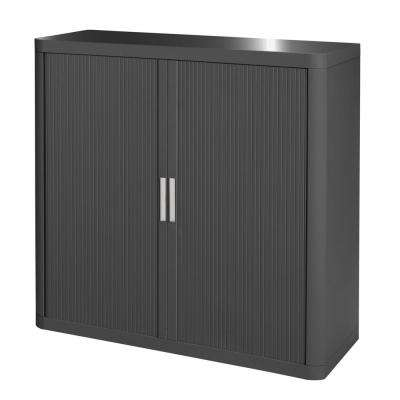 Paperflow easyOffice Antracite 41 in. Tall Storage Cabinet with 2-Shelves