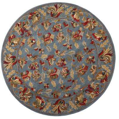 Governor Blue 8 ft. x 8 ft. Round Area Rug