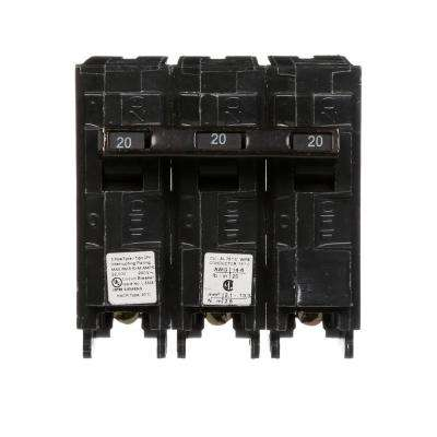 20 Amp 3-Pole 22 kA Type QPH Circuit Breaker