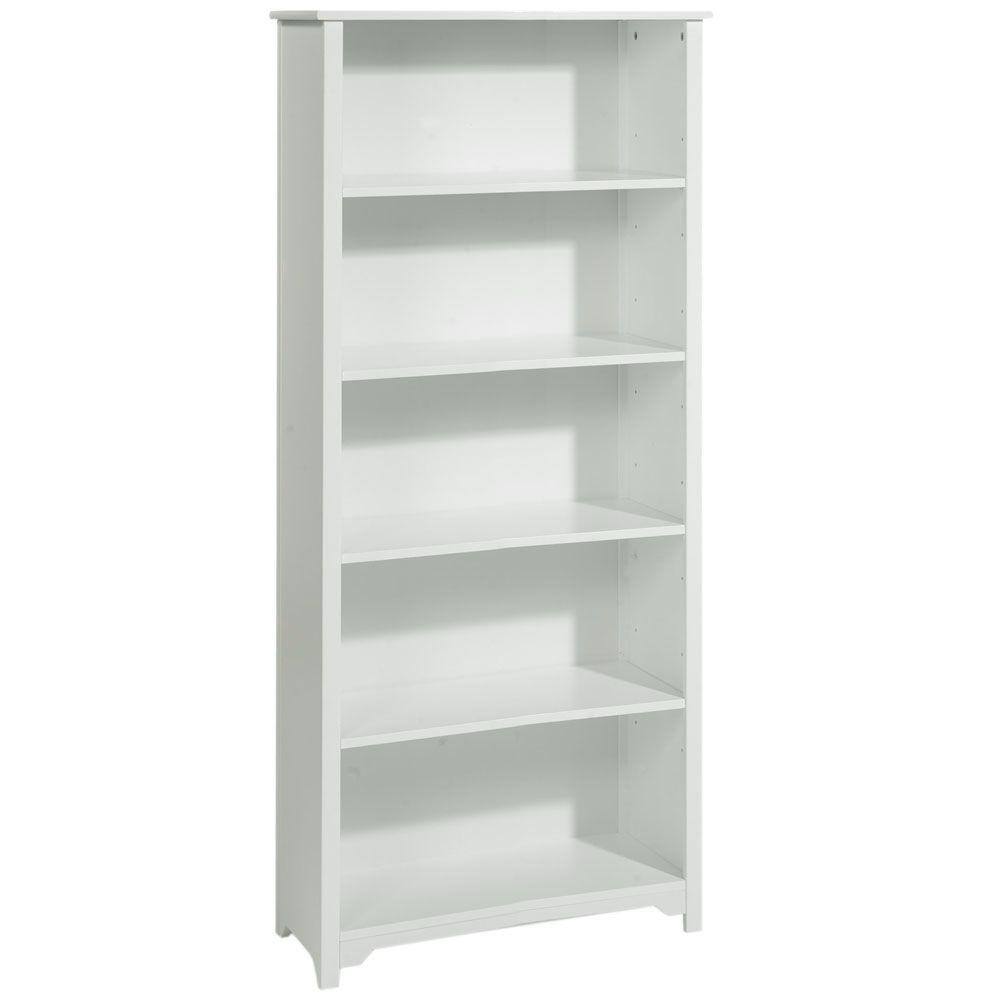 Home Decorators Collection Oxford 24 in. W 5-Shelf Open Bookcase in White