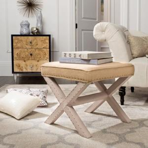 Fine Safavieh Palmer Taupe And Beige Accent Ottoman Mcr4589T Caraccident5 Cool Chair Designs And Ideas Caraccident5Info