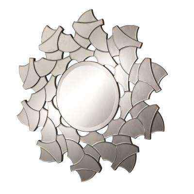 35.5 in. Clear Jig Saw Frameless Decorative Wall Mirror