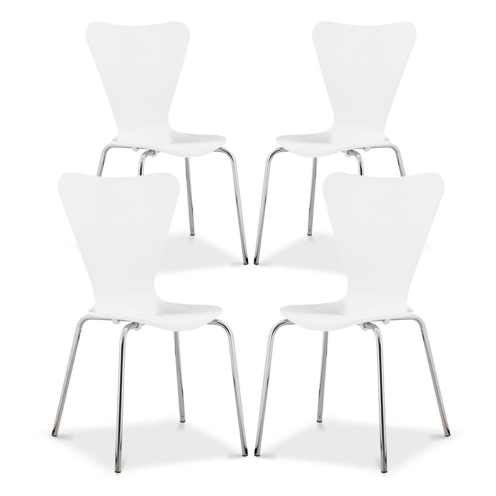 EDGEMOD Brynn White Dining Chair (Set of 4) was $341.37 now $204.82 (40.0% off)