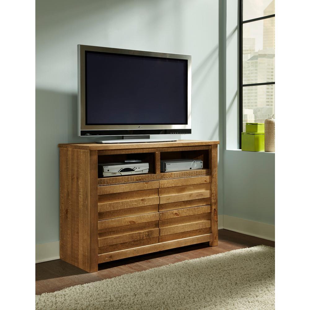 Progressive Furniture Melrose 4-Drawer Driftwood Media Chest