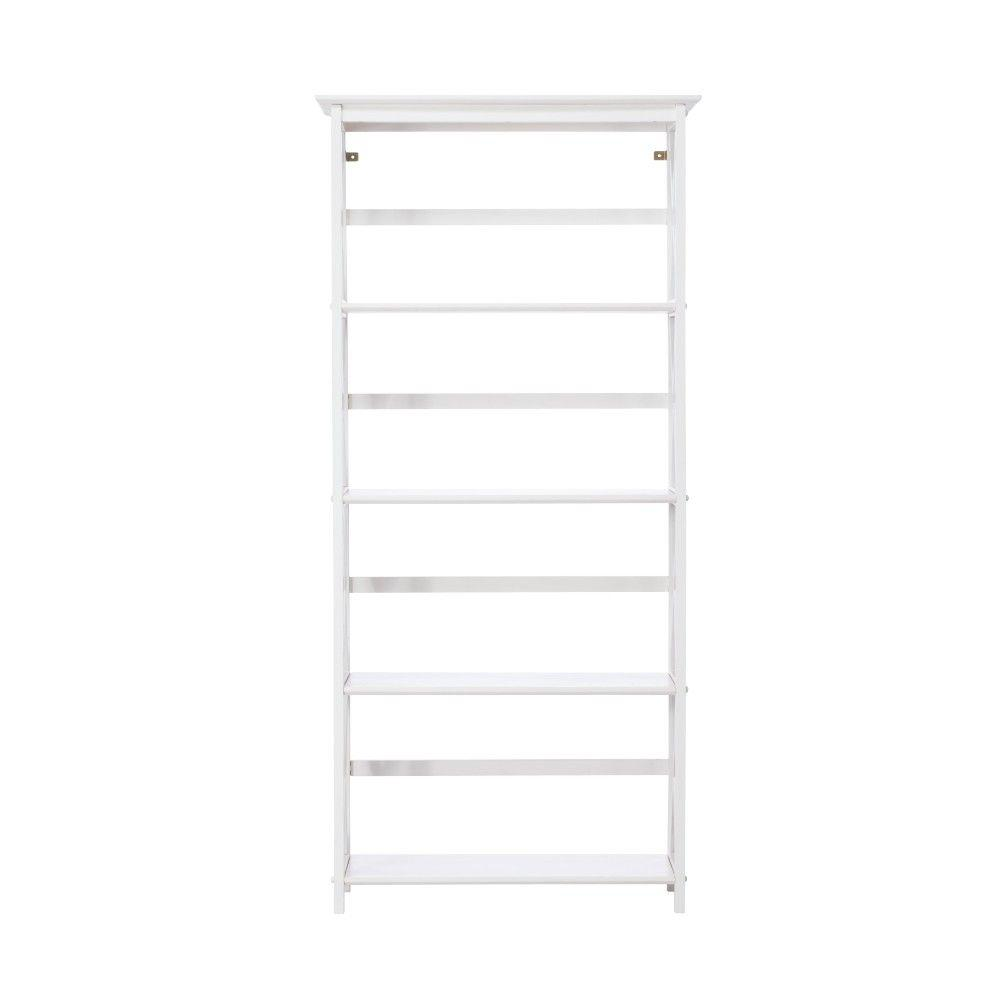casual home montego white open bookcase - Bookshelves Home Depot