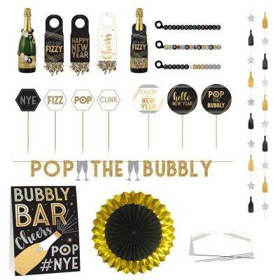 7 in. New Year's Deluxe Bubbly Bar Decorating Kit