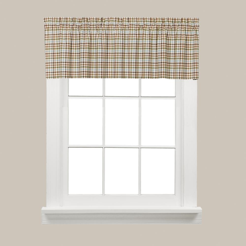 Saturday Knight Dexter 13 in. L Polyester Valance in Green