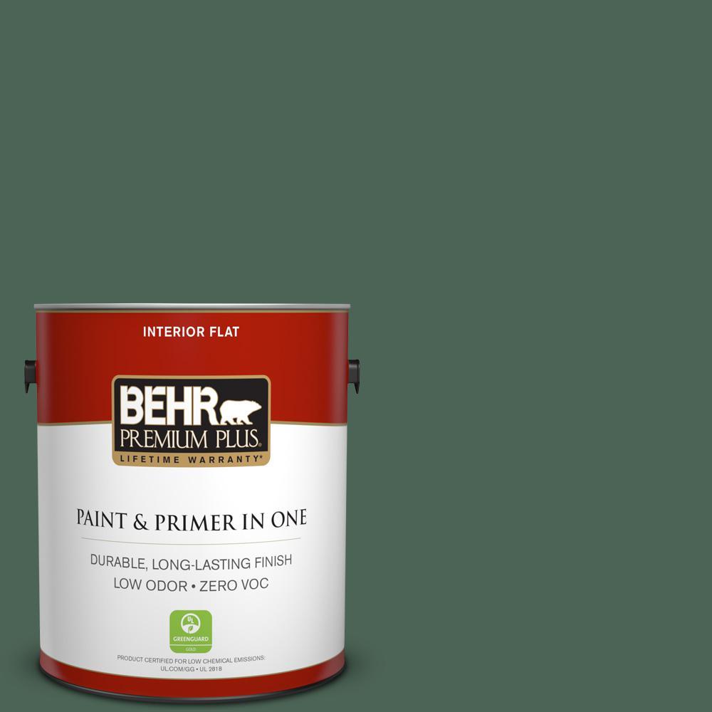 BEHR Premium Plus 1-gal. #460F-6 Medieval Forest Zero VOC Flat Interior Paint