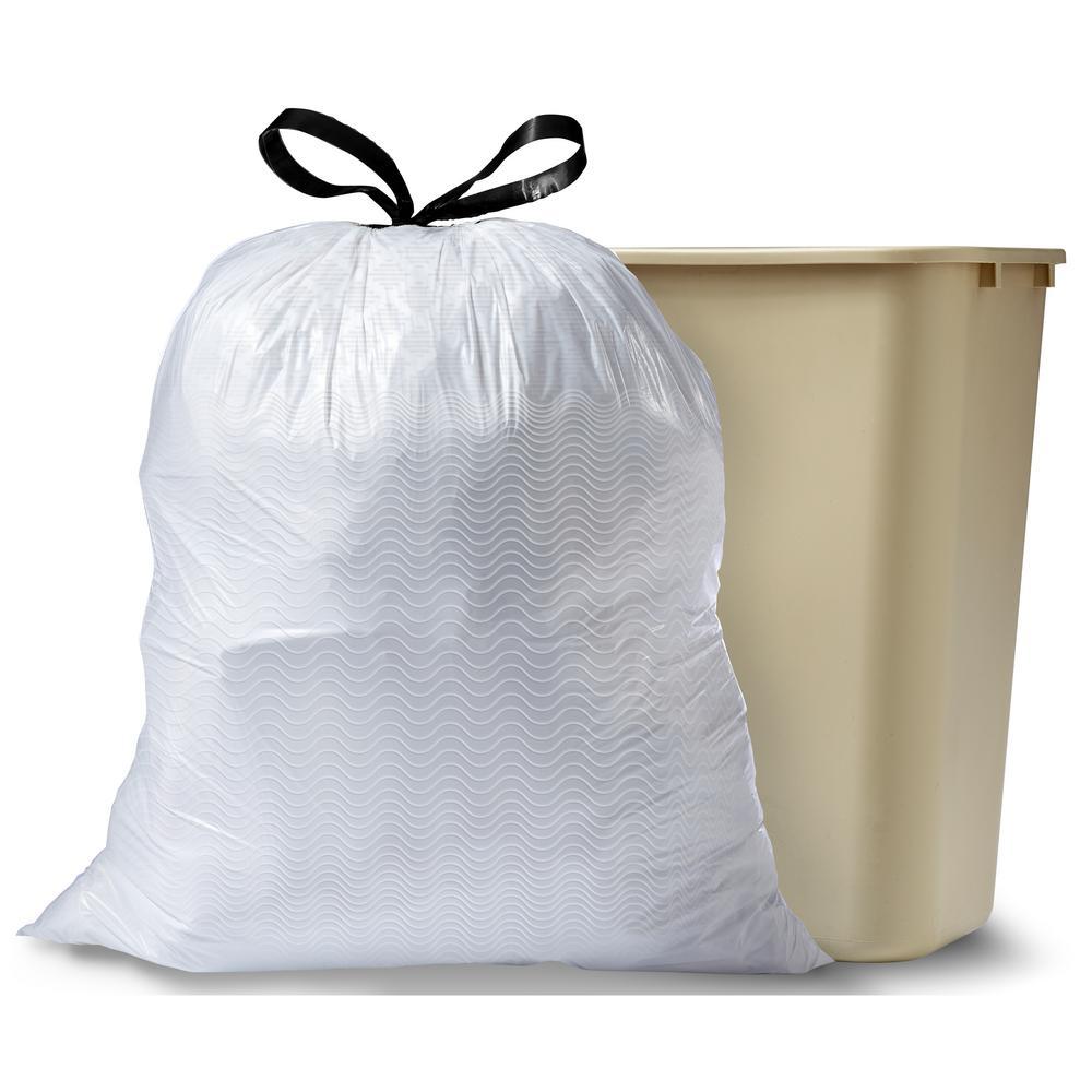 13 Gal. Tall Kitchen Drawstring Hawaiian Aloha Odor Shield Trash Bags (40-Count)