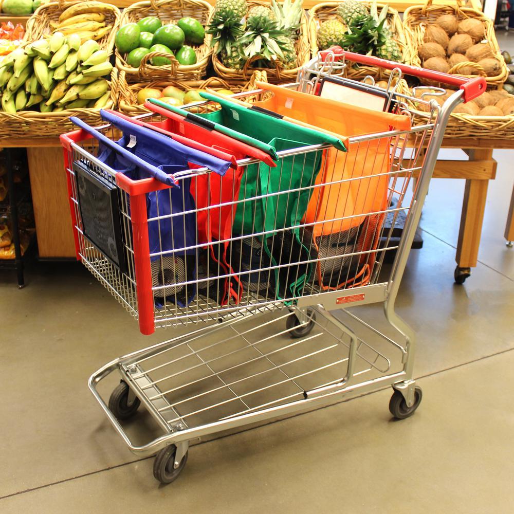 Multi Trolley Vibrant Reusable Shopping Bags