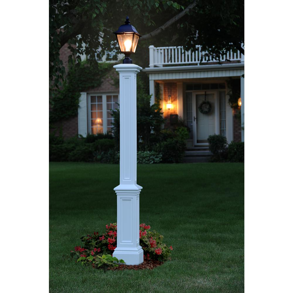 Mayne Signature Lamp Post Wh With Mount 5835 W The Home