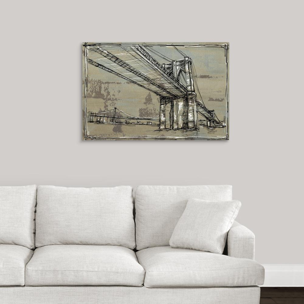 Kinetic city sketch i by ethan harper canvas wall art