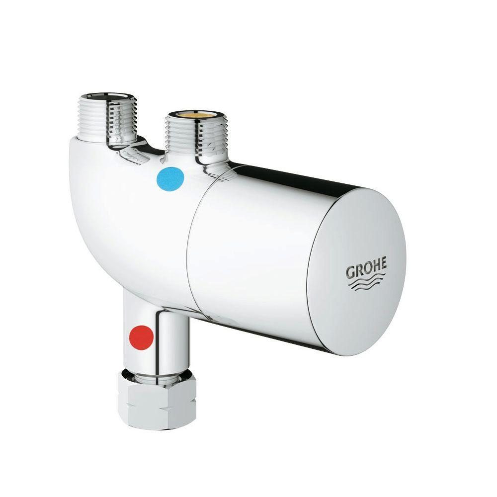 Grohe Grohtherm Micro Thermostatic Temperature Control Valves In Starlight Chrome Valve Not Included