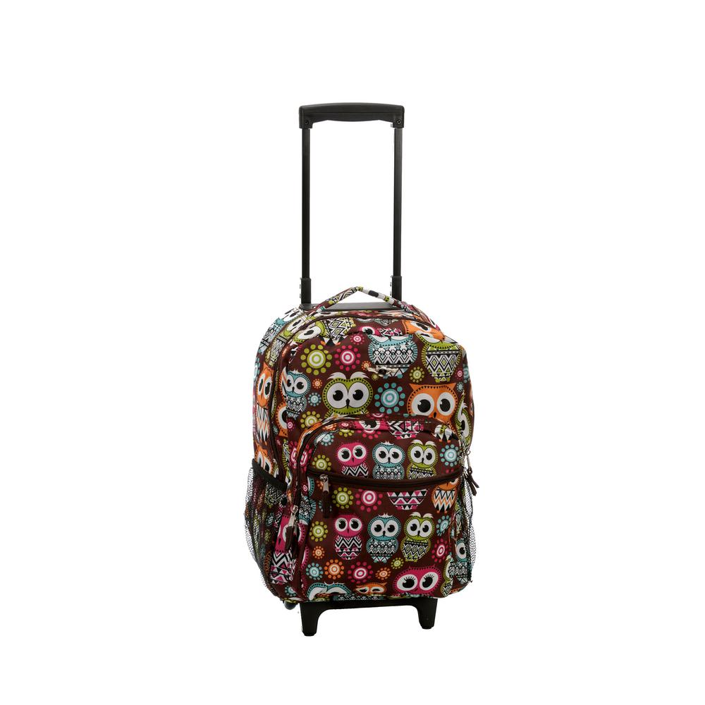 17 in. Multi-Colored Rolling Backpack
