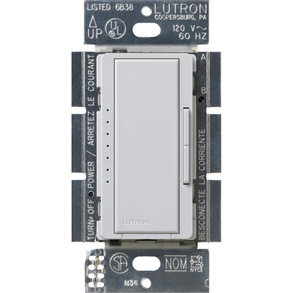 Maestro 600-Watt Multi-Location Electronic Low-Voltage Digital Dimmer, Palladium