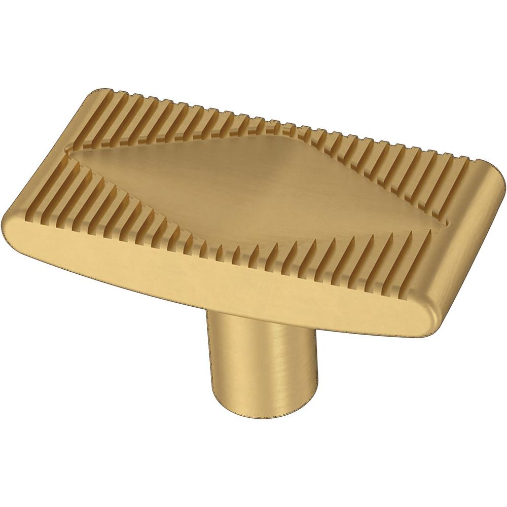 Liberty Liberty Slatted Diamond 1-5/8 in. (42 mm) Brushed Brass Cabinet Knob