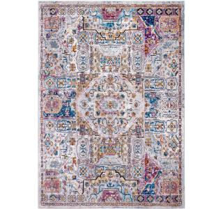 Nicole Miller Parlin Ivory Multi 9 Ft X 12 Indoor Area Rug 10 A704a 602 The Home Depot
