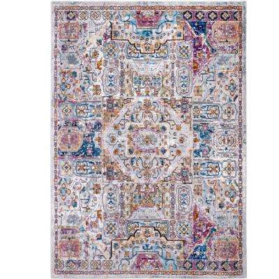 Parlin Ivory/Multi 9 ft. x 12 ft. Indoor Area Rug