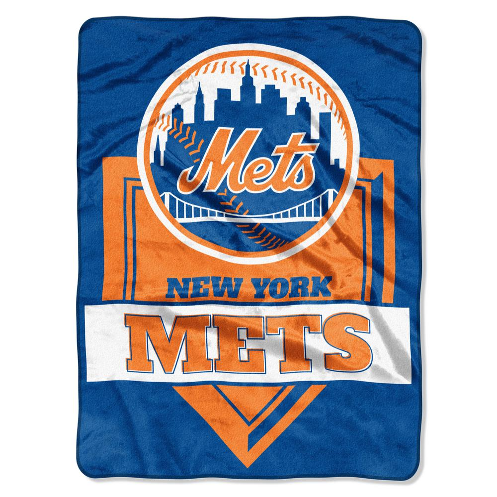 Mets Multi-Color Polyester Home Plate Raschel Blanket