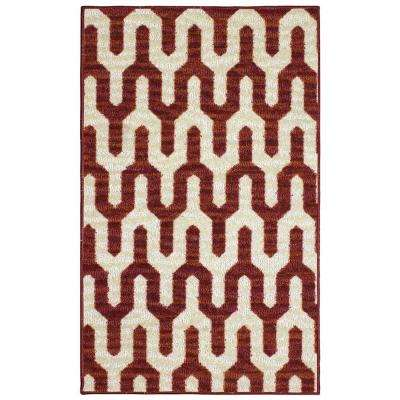 Mila Burnt Orange 2 ft. x 3 ft. Area Rug