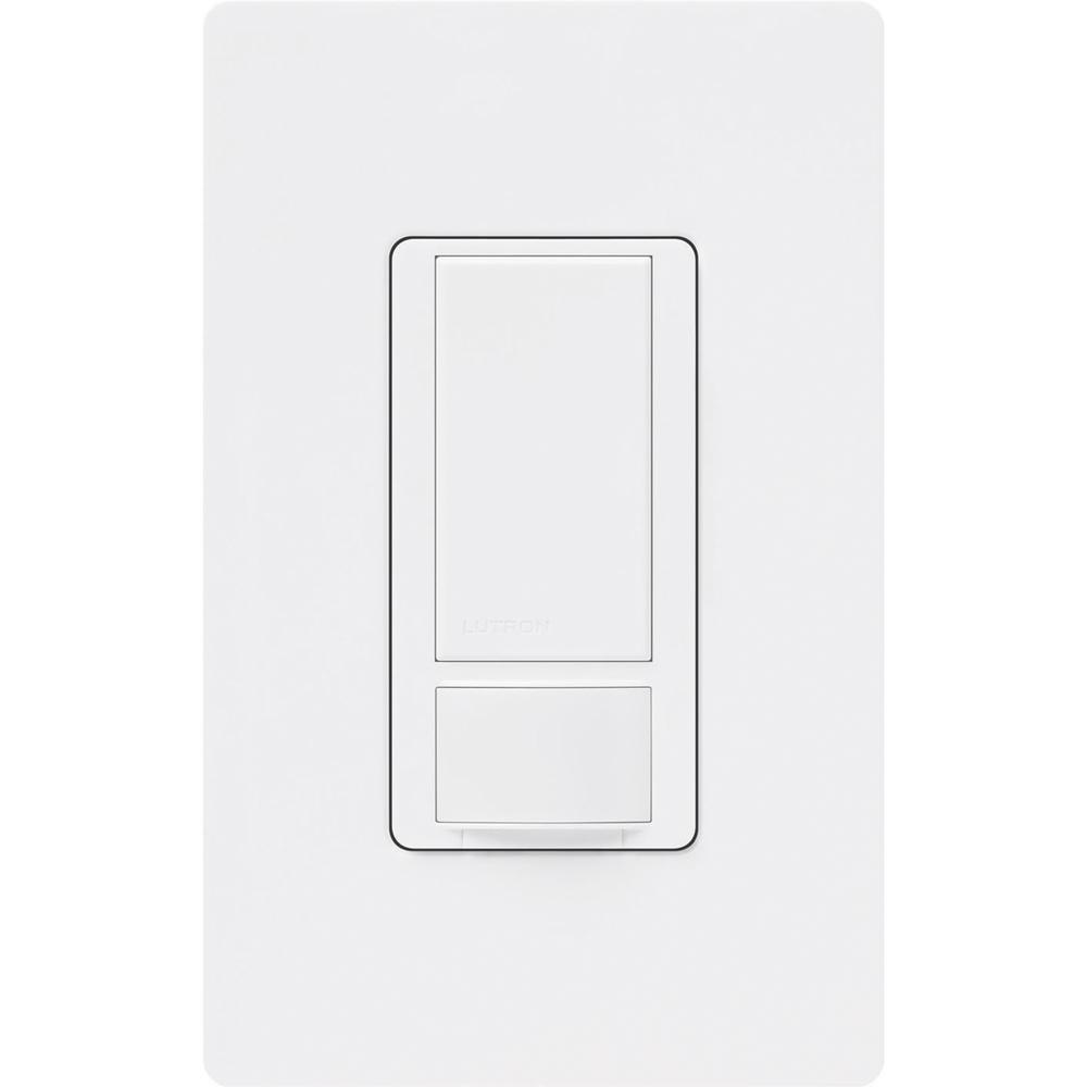 Lutron Maestro Motion Sensor switch with Wallplate, 2-Amp, Single-Pole, White