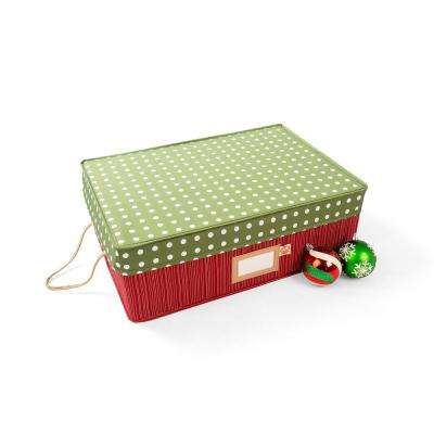 2 Tray Ornament Top Lid Style - Polka Dot