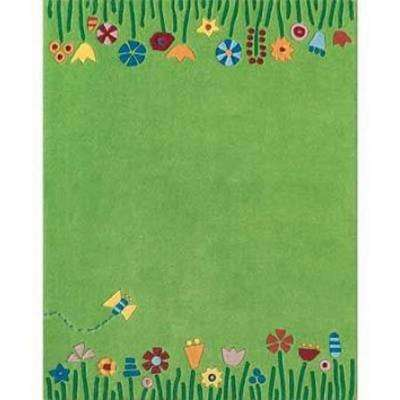 Kids Green/Multi 8 ft. x 10 ft. Area Rug