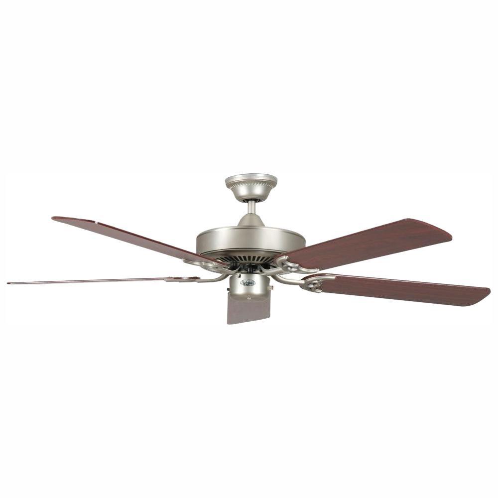 California Home Series 52 in. Indoor Satin Nickel Ceiling Fan
