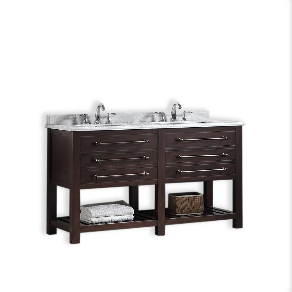 Ove Decors Harry 60 In W X 22 In D Vanity In Java Brown