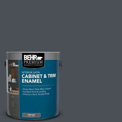 1 gal. #PPU25-22 Chimney Satin Enamel Interior Cabinet and Trim Paint