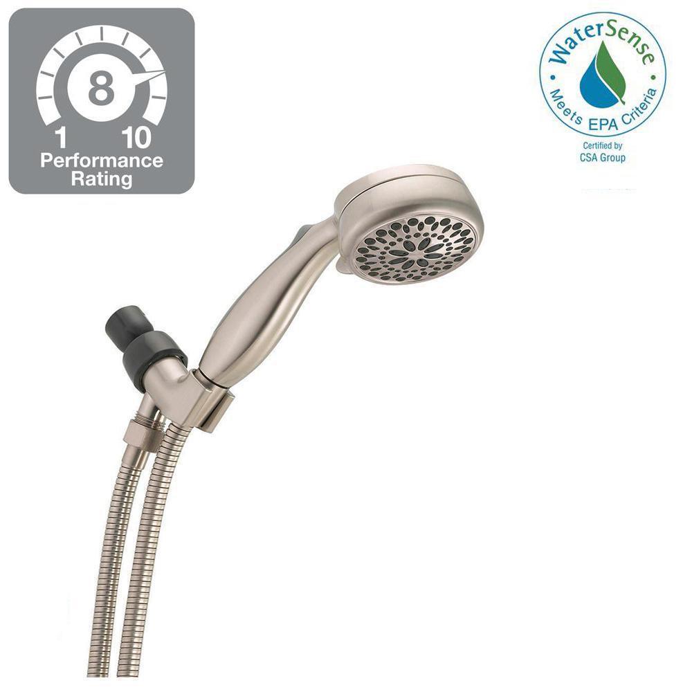 7-Spray Handheld Showerhead, Satin Nickel