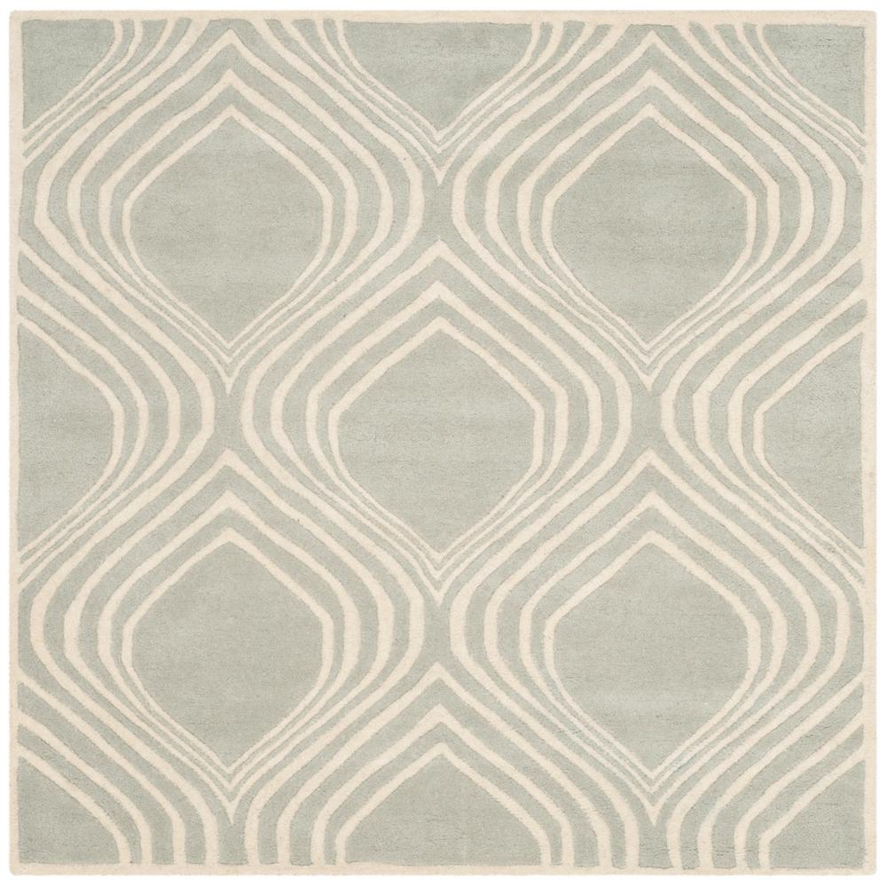 Chatham Gray Ivory 5 Ft X Square Area Rug