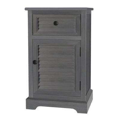 28.25 in. Gray Wood Cabinet