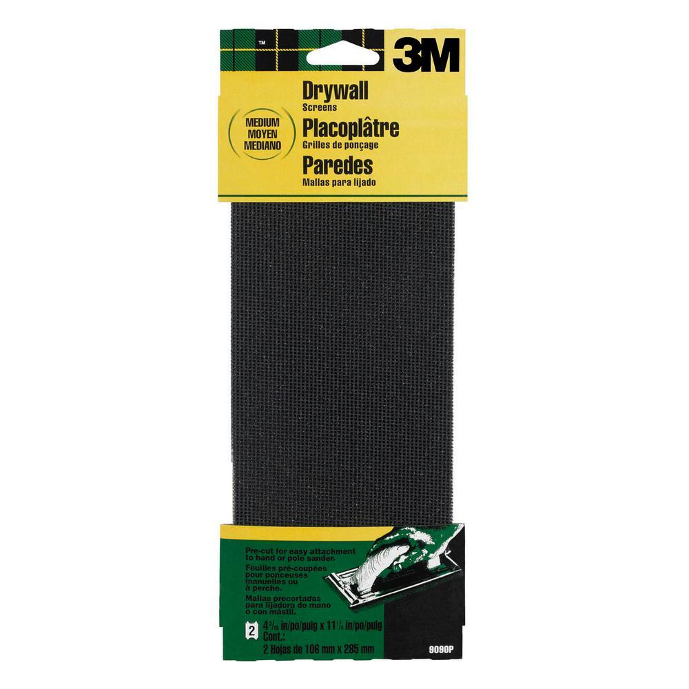 4-3/16 in. x 11-1/4 in. 120 Grit Medium Drywall Sanding Screens (2-Pack) (Case of 20)